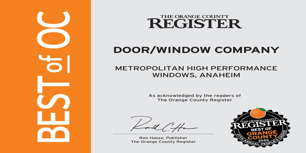 Best Door and Window Company in Orange County